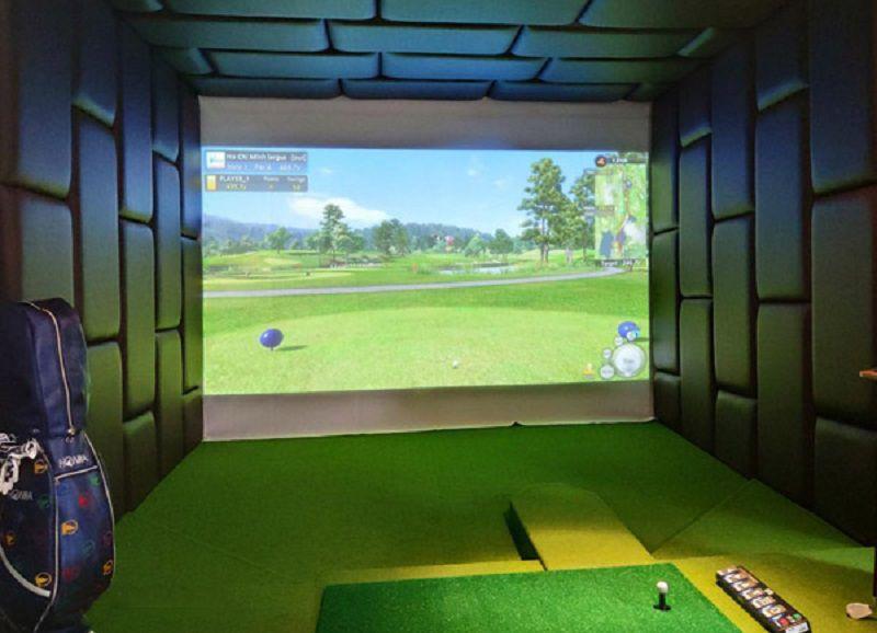 Vách ngăn trong phòng tập golf làm bằng da cao cấp