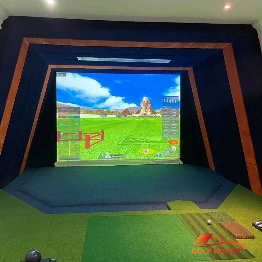 Phòng thể thao golf 3D cao cấp GolfHomes cung cấp