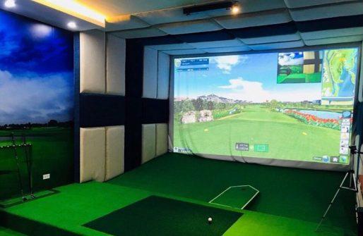 Phòng tập golf mini đầy đủ trang thiết bị