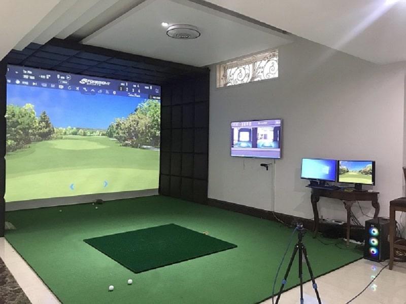 Diện tích phòng tập golf 3D với 1 màn hình là 3x4x2.7