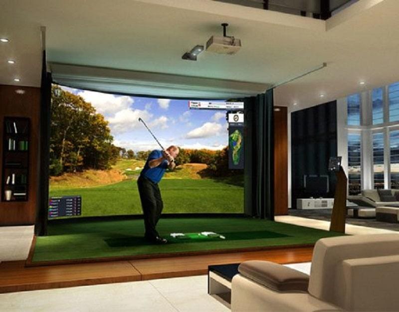 Diện tích phòng golf 3D không cần phải quá lớn