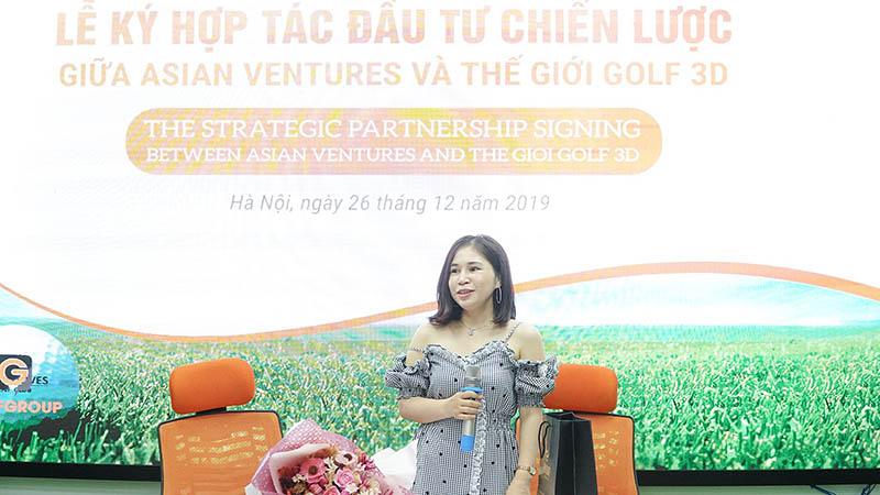 Đại diện quỹ đầu tư Asian Ventures phát biểu tại buổi ký hợp tác