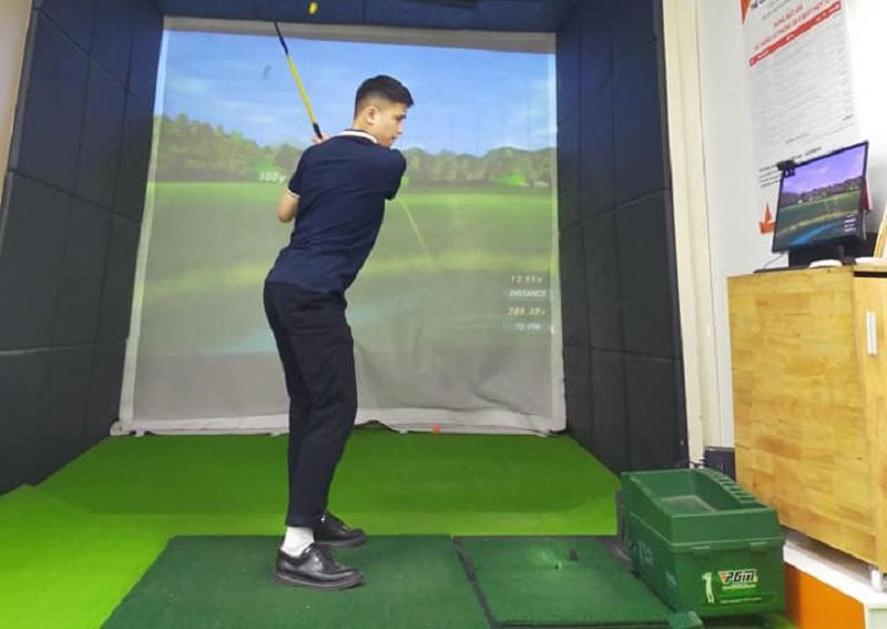 Một phòng golf 3D được thiết kế bởi GolfHomes