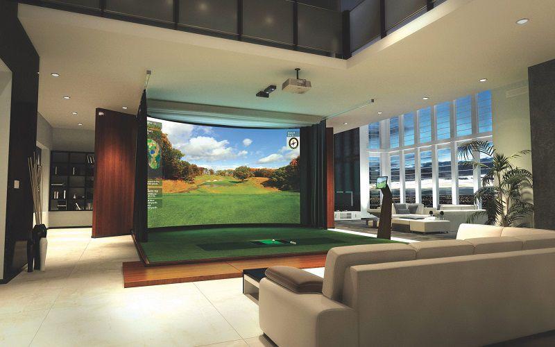 Luyện trong phòng tập golf 3D người chơi không cần lo về vấn đề thời tiết