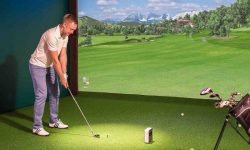 máy tập golf 3d