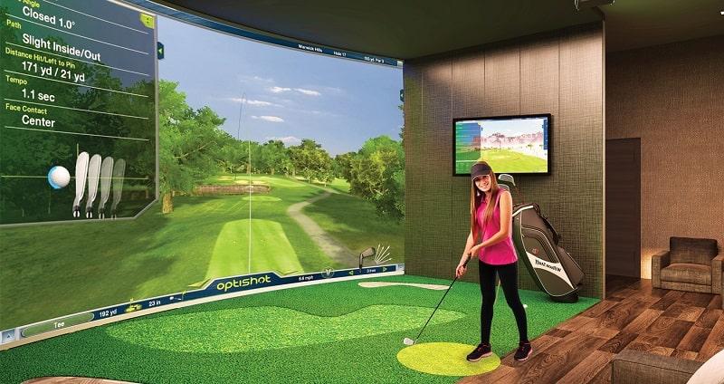 Phòng tập golf 3D chính là mô hình thu nhỏ của sân golf thực tế