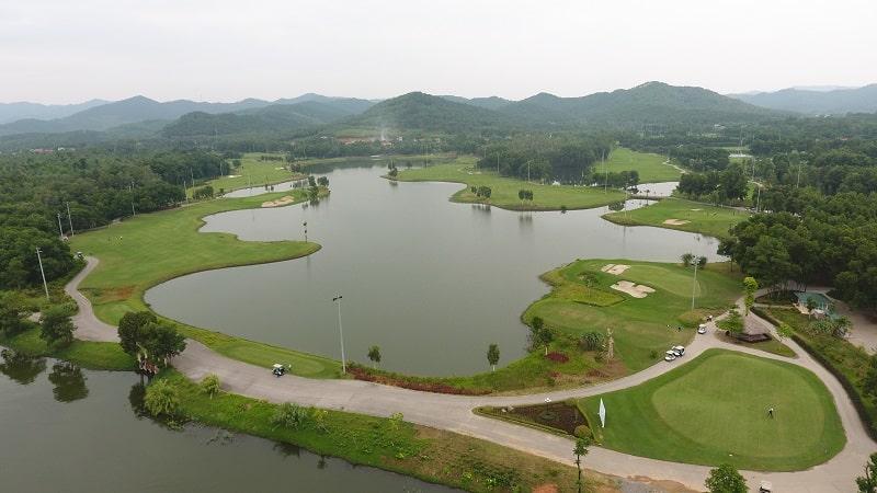 Hình ảnh sân golf Đại Lải nhìn từ trên cao