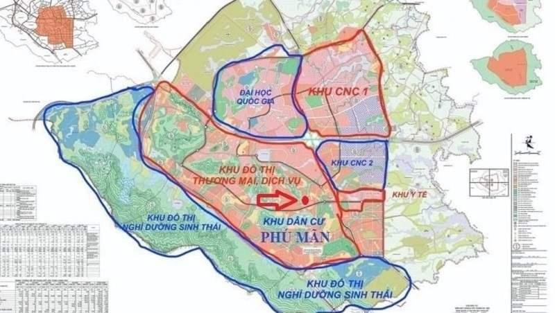 Khu vực dự kiến xây dựng sân golf Phú Mãn