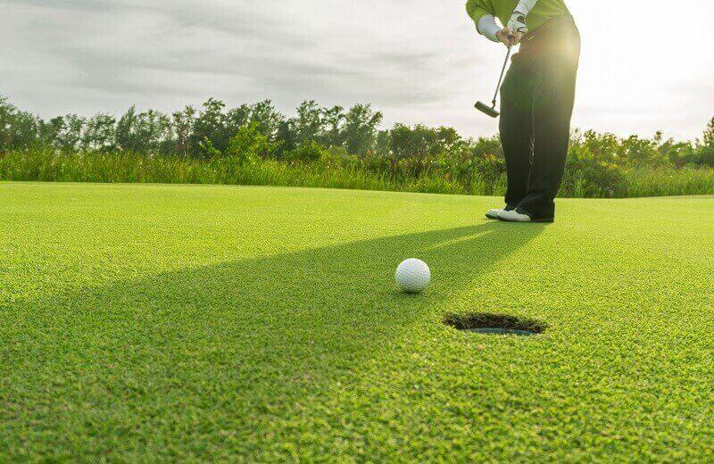 Sân tập golf có không gian vô cùng thoáng đãng, mát mẻ