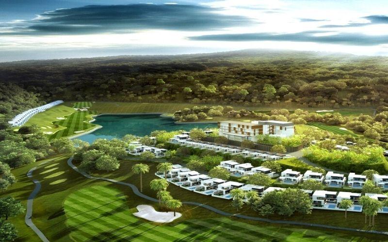 Hệ thống biệt thự đẳng cấp xây dựng nằm trọn vẹn trong lòng của sân golf