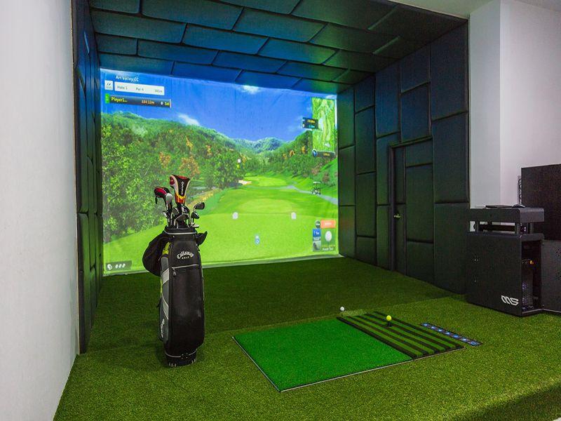 Phòng tập golf 3D mang lại cho bạn cảm giác chơi golf giống như sân thực thụ