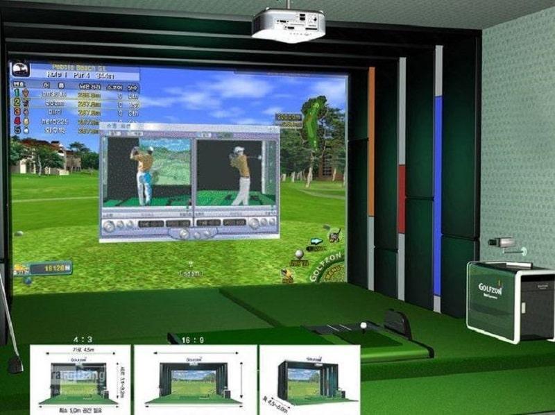 Thi công phòng golf 3D: Khâu lắp đặt phần mềm