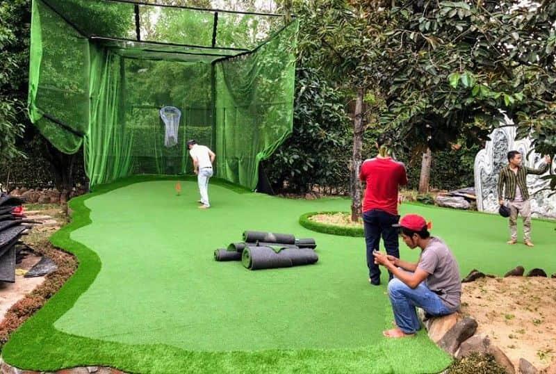Sân golf sân vườn đang được thi công