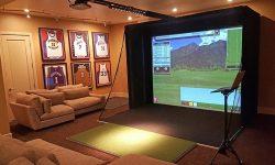 Phòng golf 3D mô phỏng hàng chục đến hàng trăm sân golf nổi tiếng trên thế giới