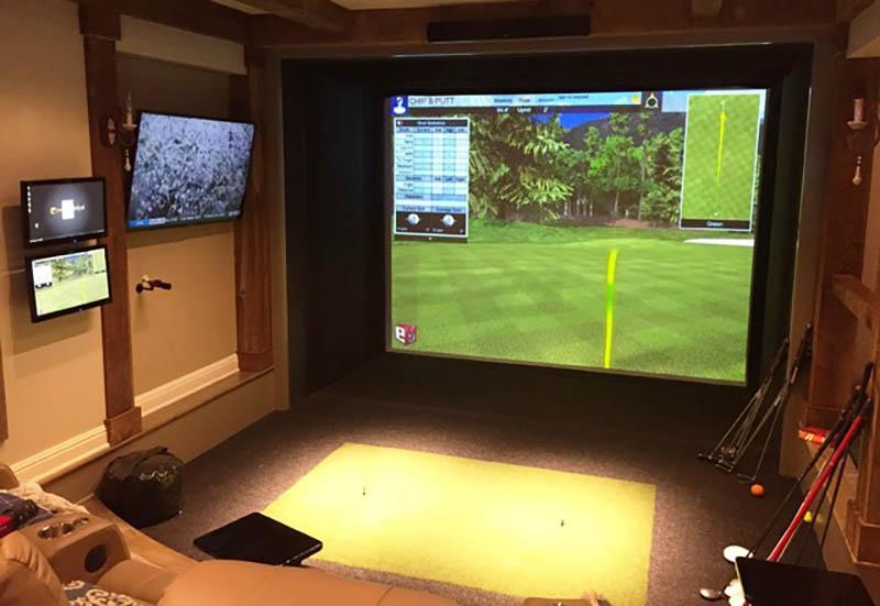 Phòng golf 3D của GolfHomes được tiến hành lắp đặt theo quy trình 18 bước, chuẩn quốc tế