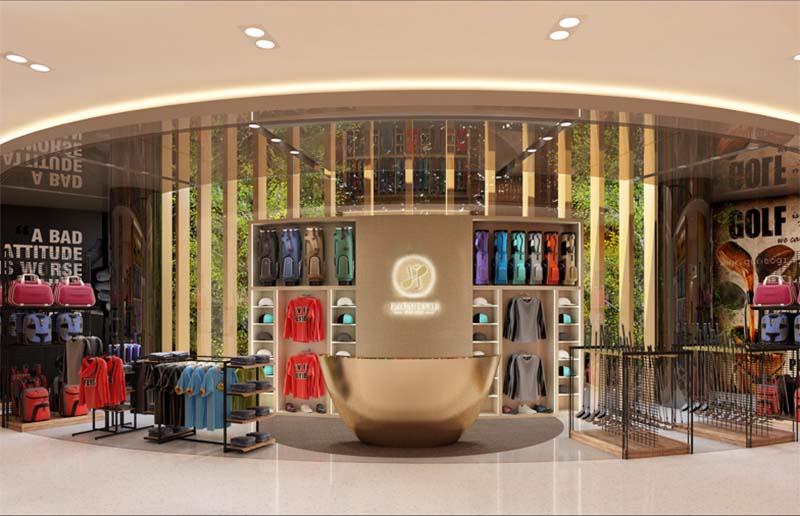 Khu cửa hàng mua sắm ở sân golf