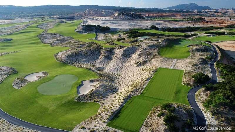 Sân Golf Links nhìn từ trên xuống với nhiều thử thách thú vị