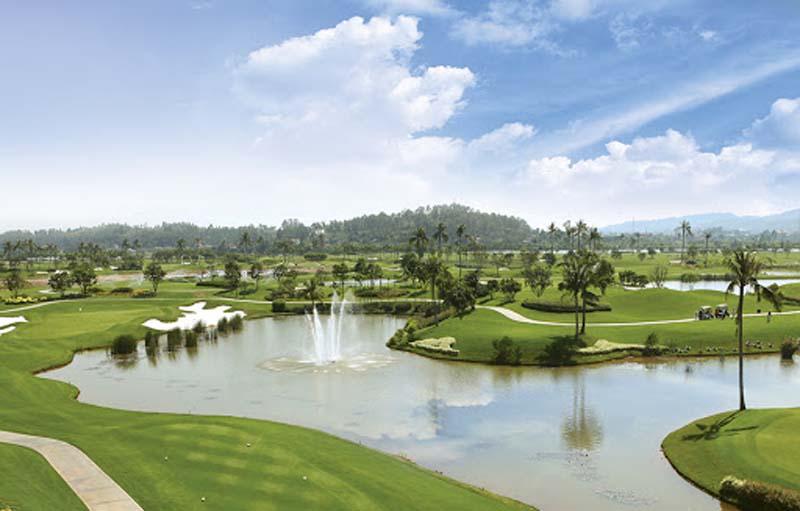 Sân Sông Giá thu hút nhiều golfer nhờ thiết kế độc đáo