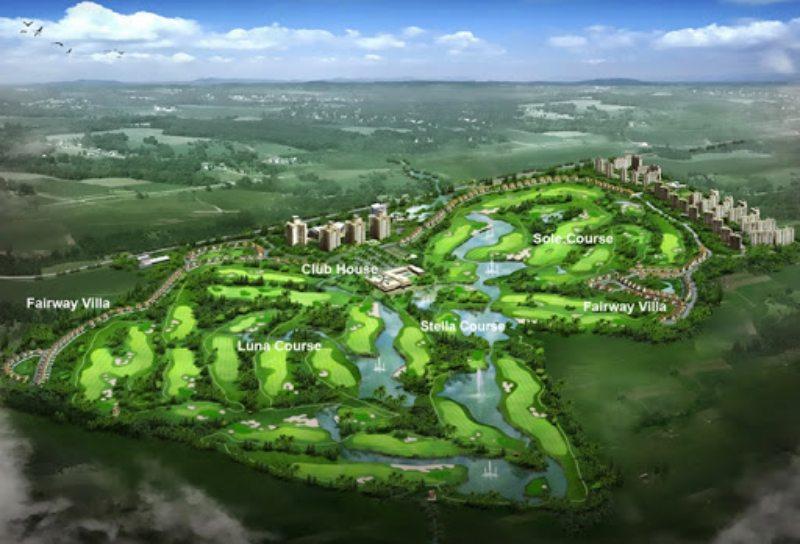 Tổng thể kiến trúc sân golf Twin Doves Bình Dương
