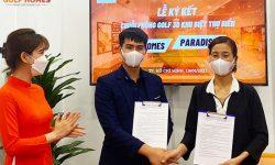 Ông Tuấn Anh - Đại diện Golfhomes và Bà Nguyễn Thị Ngân - Đại Diện VPN Paradise Nha Trang