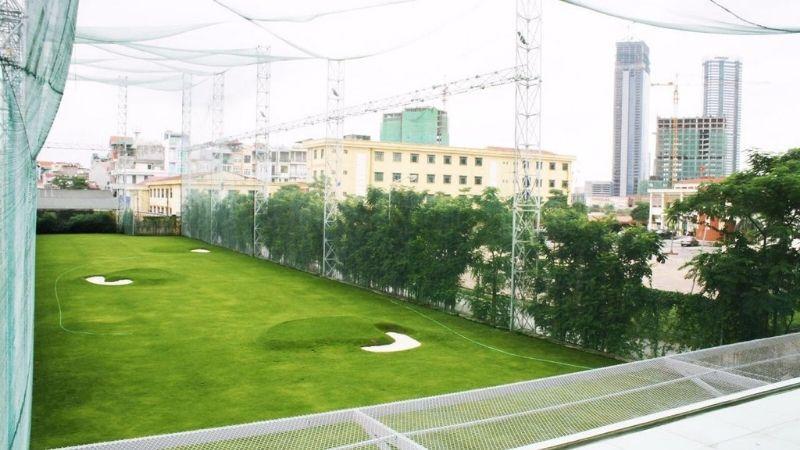 Sân tập golf Viettime có vị trí ngay trung tâm Hà Nội