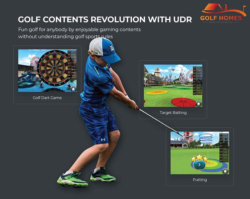 Màn hình cảm ứng Phòng Golf 3D Platinum UDR 4.0 Royal
