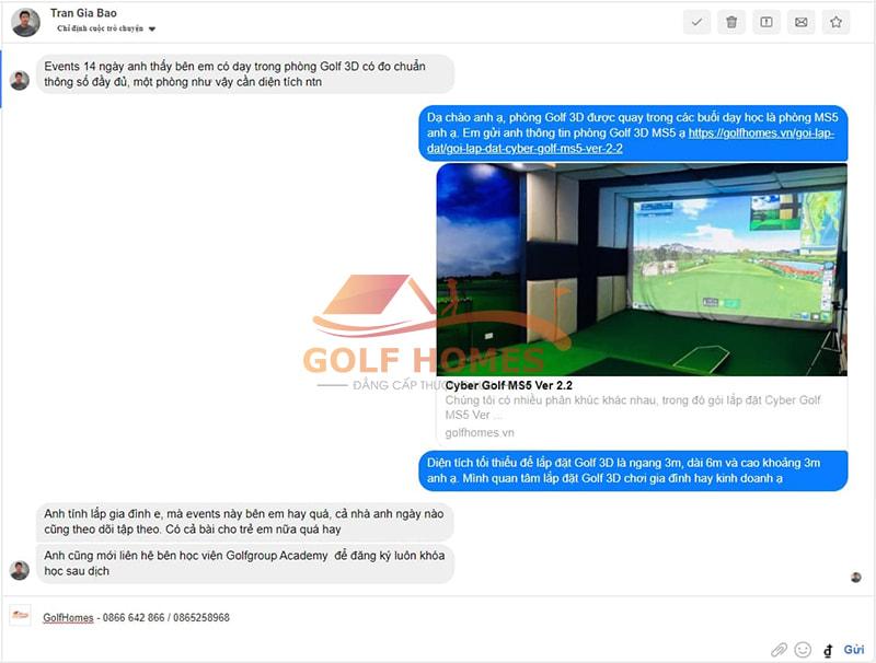 Anh Trần Gia Bảo phản hồi tích cực về sự kiện Golf From Home