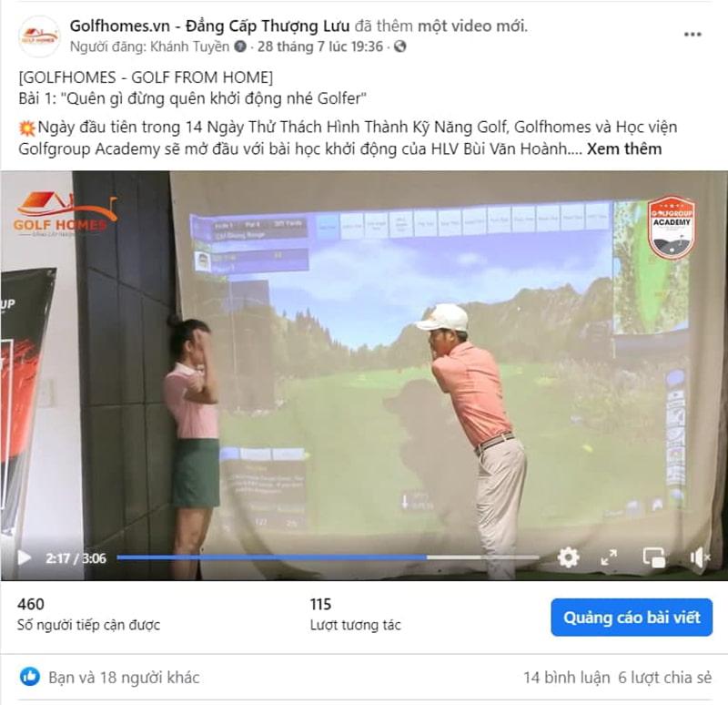 HLV Bùi Văn Hoành học viện GolfGroup Academy dạy các bài khởi động cơ bản cho Golfer
