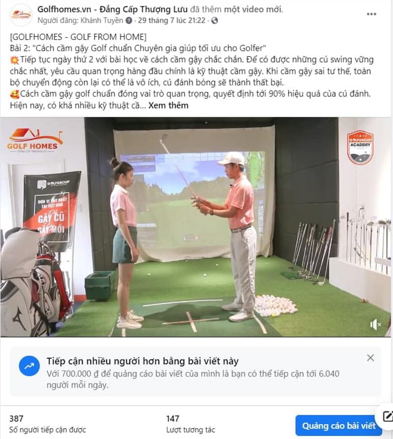 Cách cầm Gậy Golf chuẩn rất quan trọng đối với Golfer