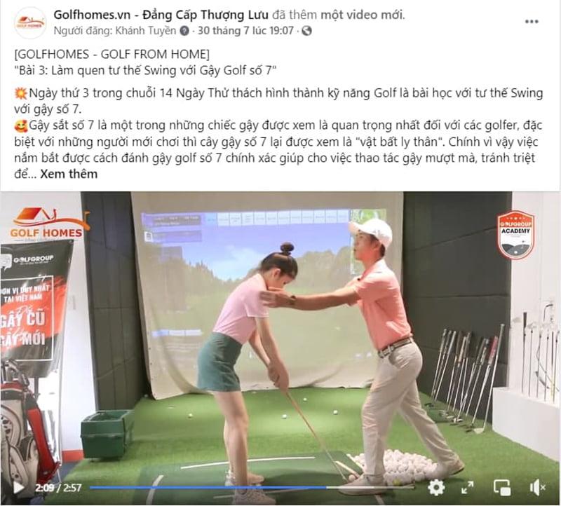 Tập luyện Swing cùng gậy Sắt 7 trong sự kiện Golf From Home
