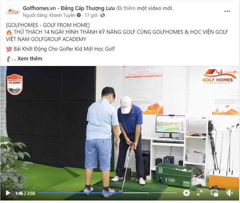 Bài khởi động dành cho Golfer Kid