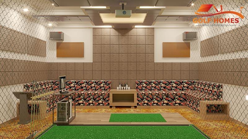 Bản vẽ phối cảnh 3D cho phòng Golf 3D