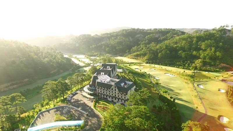 Sân golf có thiết kế vô cùng đặc biệt, tạo nhiều cấp độ thử thách
